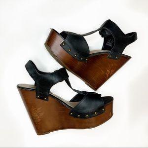 Steve Madden Wyliee Wedge T-Strap Platform Heels